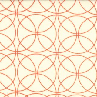 Moda Comma by Zen Chic - 2409 - Orange Interlocking Circles on Cream - 100% Cotton Fabric